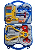 Plastic Playset Kit with Fold able Suitcase, Compact Medical Accessories Toy Set Pretend Play Kids