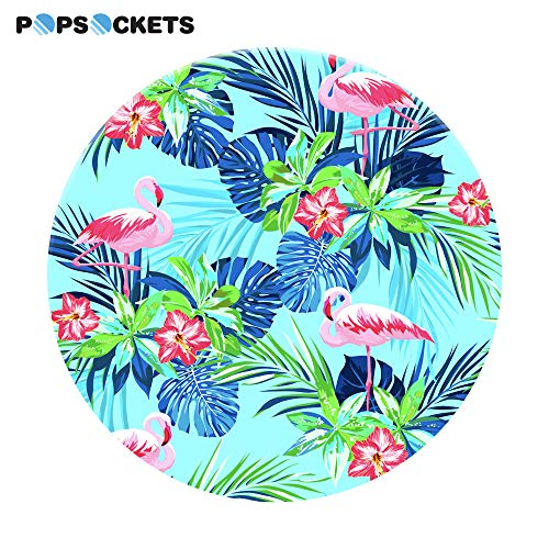 PopSockets: Collapsible Grip & Stand for Phones and Tablets - Rainforest Flamingos