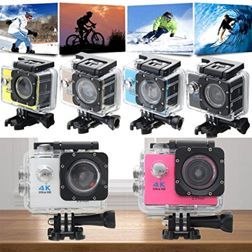 Kinrui Waterproof 4K SJ9000 Wifi HD 1080P Ultra Sports Action Camera DVR Cam Camcorder (Blue) by Kinrui (Image #3)