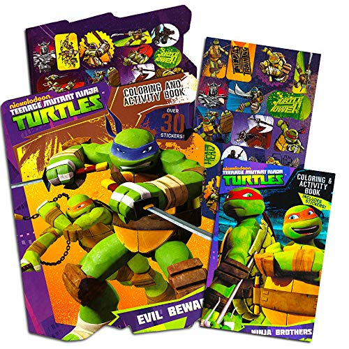 Teenage Mutant Ninja Turtles Coloring and Activity Book Set With Stickers -