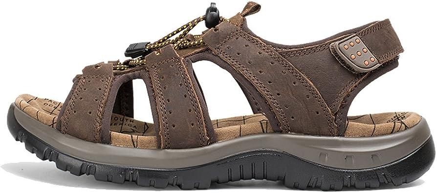 AGOWOO Womens Sandals Closed Toe Hiking Beach Sandles