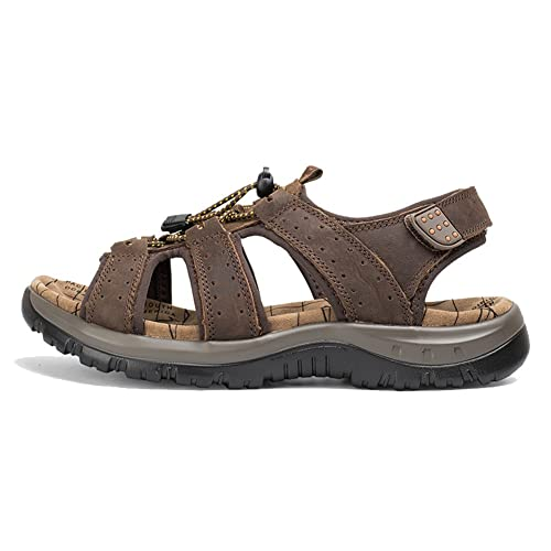 f576212143931 AGOWOO Women's Lace Up Hook and Loop Beach Hiking Sandals
