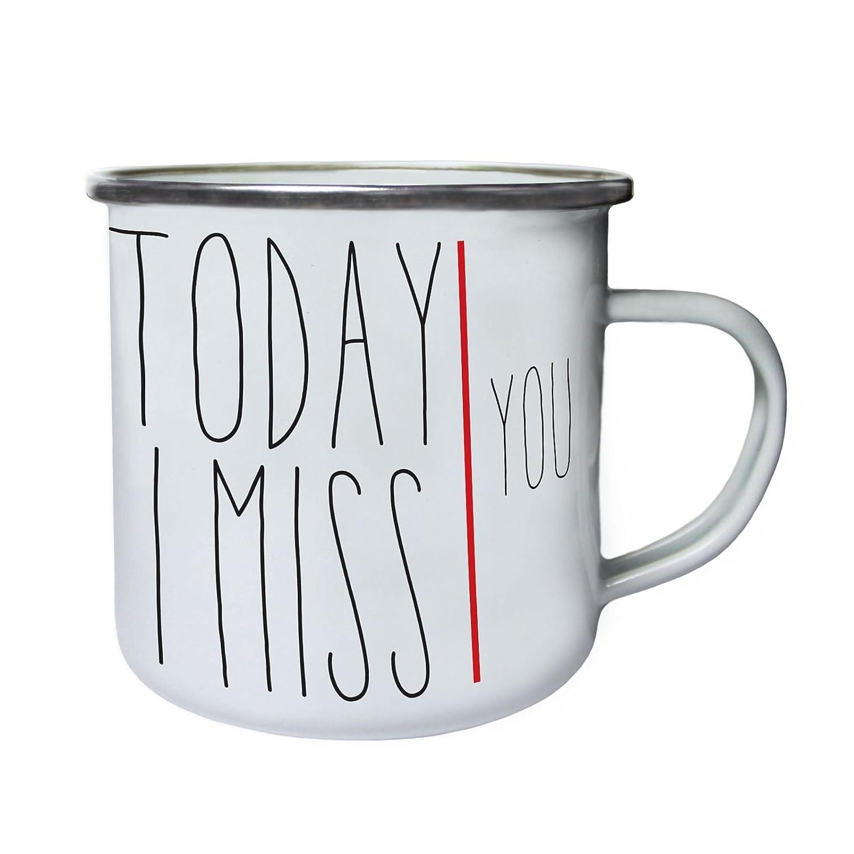 Today i Miss You Retro,Tin Enamel 10oz Mug cc875e