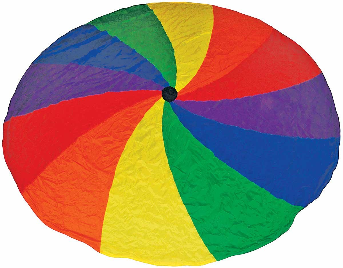 Great Lakes Sports Easy Grip Parachutes with 1-Continuous Handle and Brightly Colored Nylon (30') by Great Lakes Sports (Image #1)
