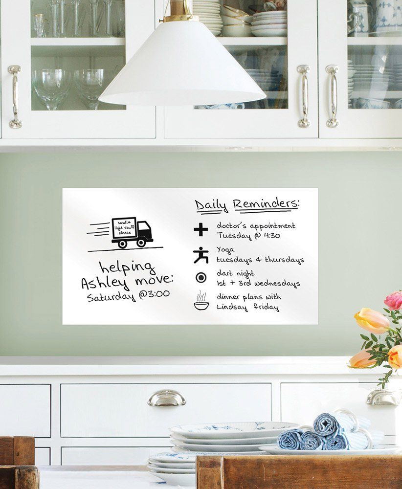 WallPops WPE98894 Dry Erase Peel and Stick Whiteboard Dry-Erase Board