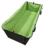 Petkuguo Oxford Fabric Double Layer Waterproof Dog Cat Car Seat Cover Safety Pet Waterproof Hammock Blanket Cover Mat Travel with Carry Bag 51.18 X 17.72 inch Green