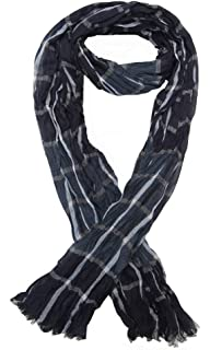 Générique Foulard, chèche écharpe pour homme rayé bleu dominant, 180 x 60  cm. 5684f9788d7