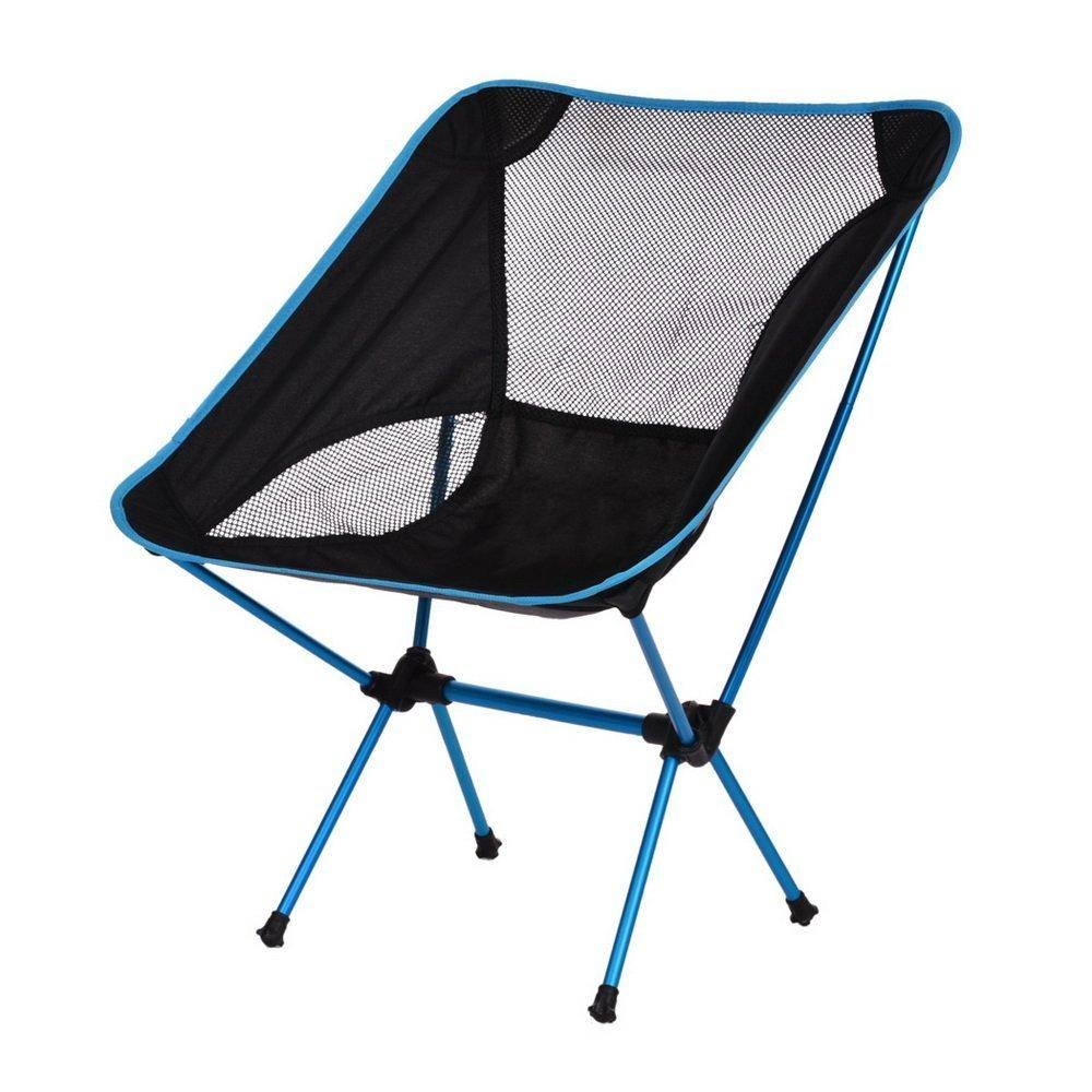折り畳み式キャンプチェア ポータブル 実用的 高耐久 アルミニウム合金 キャンプチェア バッグ付き ハイキング/キャンプ/ビーチ/釣り/アウトドア用   B071FZGKDG