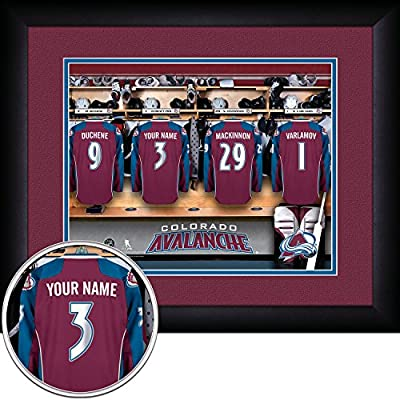 "Photo File Colorado Avalanche Locker Room Jersey Frame Print, 15"" x 18"""