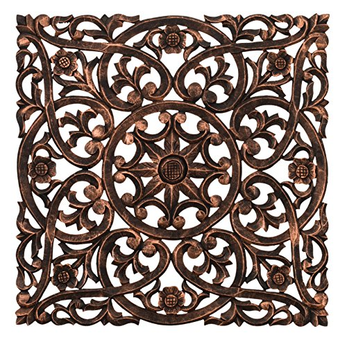 Regal Wood (Regal Art & Gift Carved Square Wall Decor 24