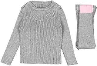 Lemonkid Fashion Fall Winter Kids Girls Cotton Knit Sweater Suit Tops + Pants Set
