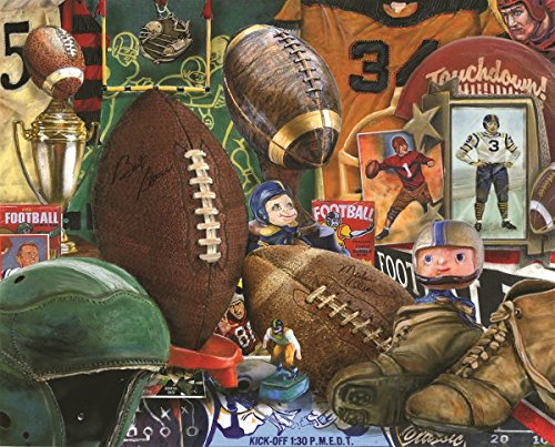 Springbok Puzzles - Vintage Football - 1000 Piece Jigsaw Puzzle - Large 30 Inches by 24 Inches Puzzle - Made in USA - Unique Cut Interlocking Pieces from Springbok