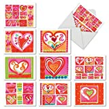 Best Loves With Hearts - M6725OCB Art Hearts: 10 Assorted Blank All-Occasion Note Review