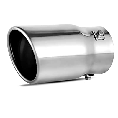 "AUTOSAVER88 2-2.5 Inch Adjustable Inlet Exhaust Tip, Bolt On Chrome Polished Stainless Steel Exhaust Tailpipe Tip, 2""-2.5"" Inlet, 3.5"" Outlet, 6"" Long.: Automotive"