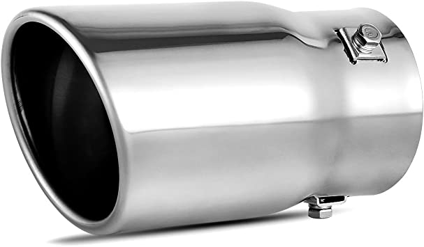 """Stainless Steel Exhaust Tip Tail Pipe Polished 4"""" Inlet 15/"""" Long US 6"""" Outlet"""