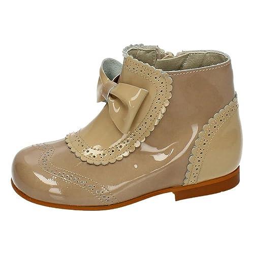 MADE IN SPAIN 4946 Botas DE Charol NIÑA Botas-Botines Camel 19: Amazon.es: Zapatos y complementos