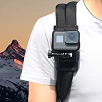 ParaPace Camera Shoulder Strap Mount-Camera Holder Fixed on Backpack Shoulder Strap - Camera Fixed Accessories with 360 Degree Rotated Adjustment for Camera GoPro Hero 8/7/6/5/4/3/2/1