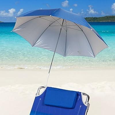 Icetek Sports Clamp-On Beach Umbrella, Blue