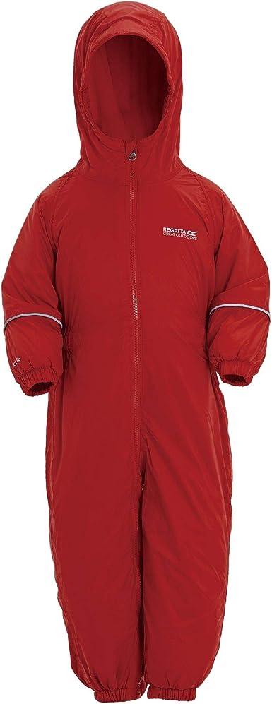Regatta Kids Splosh III Breathable Insulated Waterproof Puddle Suit Red Pepper