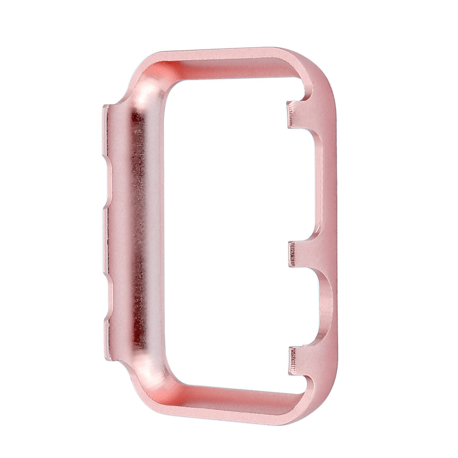Apple Watch Bumper 42mm, iWatch Crystal Rhinestone Diamond Aluminum Case Shell Protective Frame Cover for 42mm Apple Watch Series 3/2/1 - Rose Gold by Clatune (Image #7)