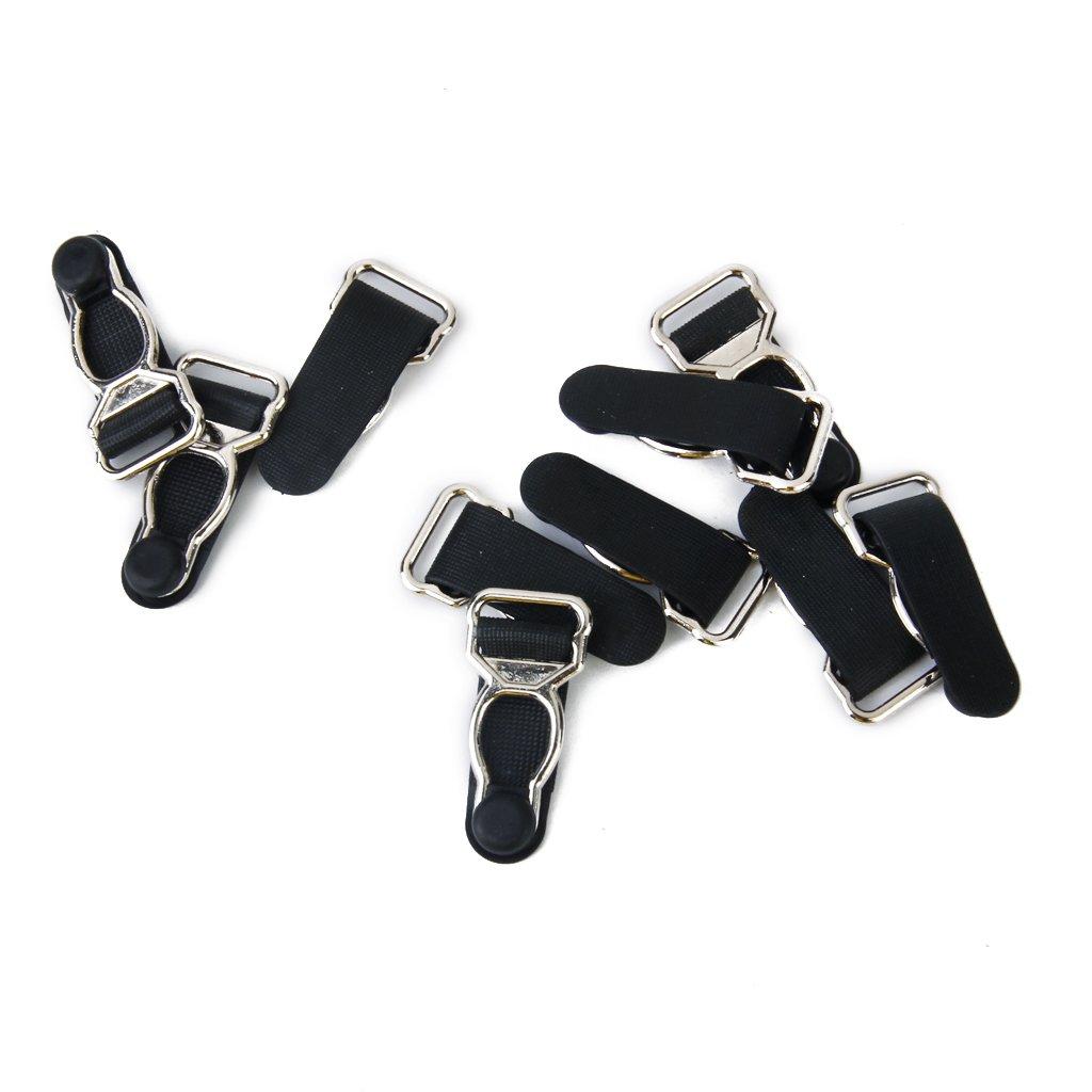 P Prettyia 10x Corsetto Giarrettiere Clip Suspender Per Calze 15mm Larghe Per Uomo Donna
