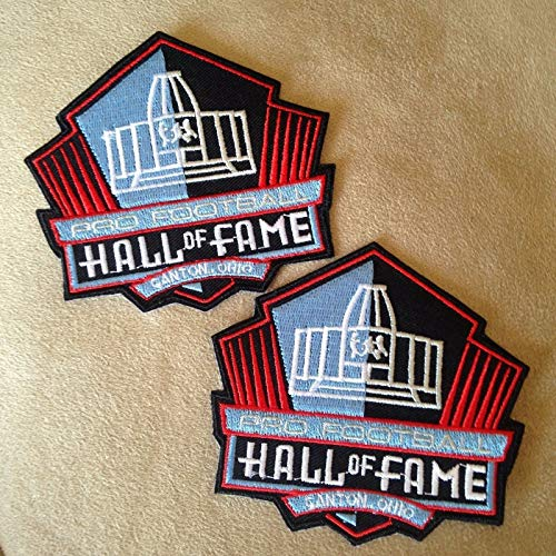 Embroidery Patch NFL Hall of Fame 3 3/8 X 3 3/4 INCH (2 pcs)