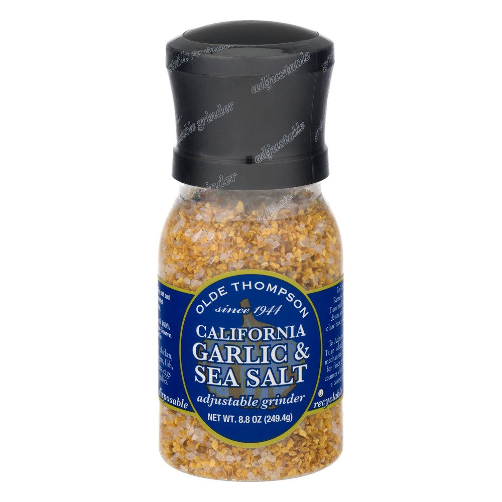 Olde Thompson California Garlic & Sea Salt & Olde Thompson 20-Ounce Mediterranean Sea Salt Crystals