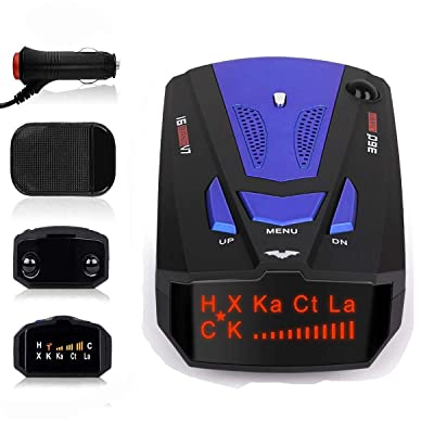 Laser Radar Detector for Cars, Prompt Speed, City/Highway Mode, 360 Degree Detection Policy Radar Detectors Kit with LED Display(FCC Approved): Car Electronics