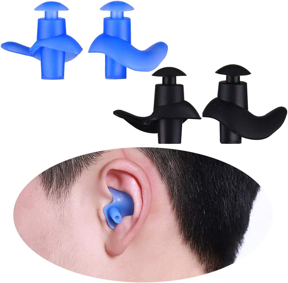 Black Silicone Adult Anti-Noise Soft Silicone Swimming Waterproof Ear plug ONZY