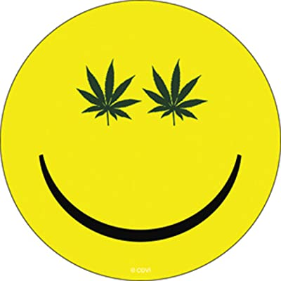 C&D Visionary Licenses Products Weed Indeed Pot Smiley Sticker: Toys & Games