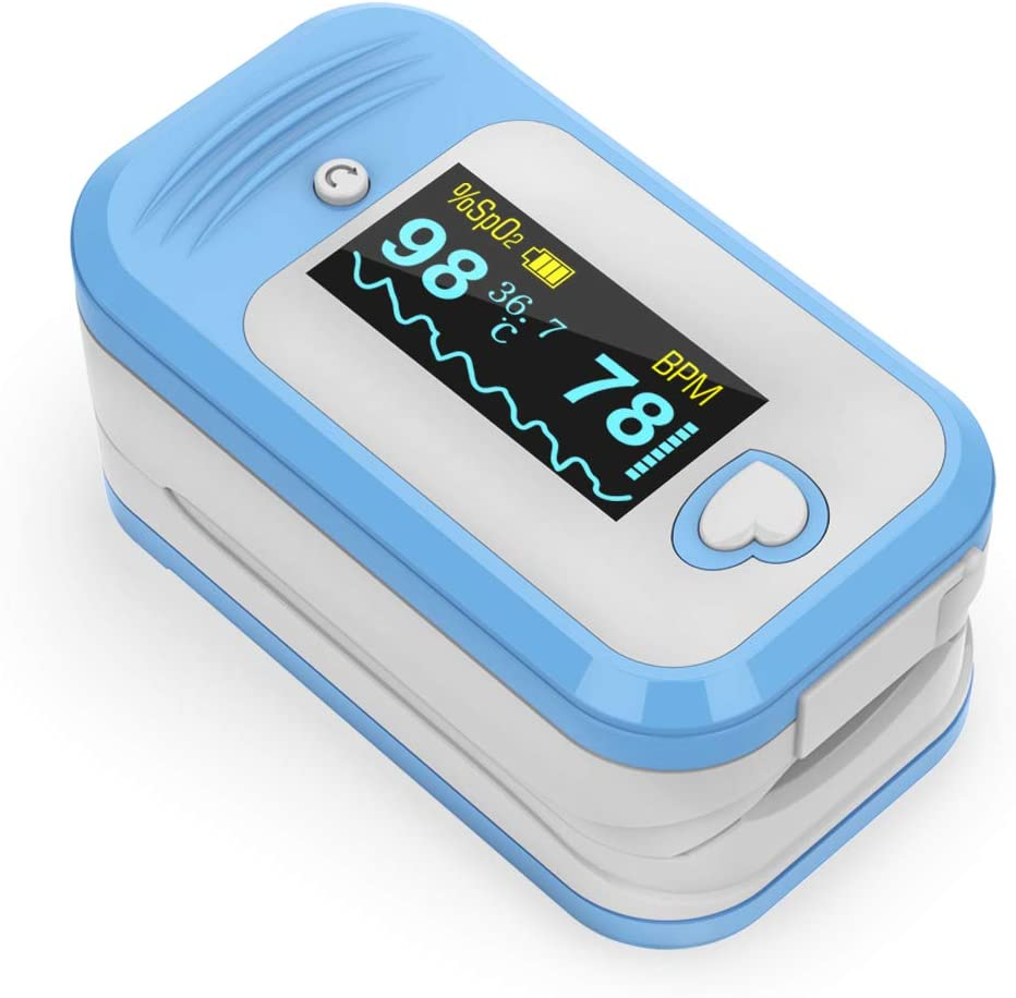 Oxímetro de pulso, Monitor Clínico de Saturación de Oxígeno MED LINKET AM801, para el monitoreo de SpO2, temperatura corporal, frecuencia cardíaca e índice de perfusión