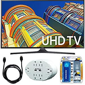 Samsung UN43KU6300 - 43-Inch 4K UHD HDR LED Smart TV - KU6300 6-Series Bundle includes TV, Screen Cleaning Kit, 6 Outlet Power Strip with Dual USB Ports and HDMI Cable