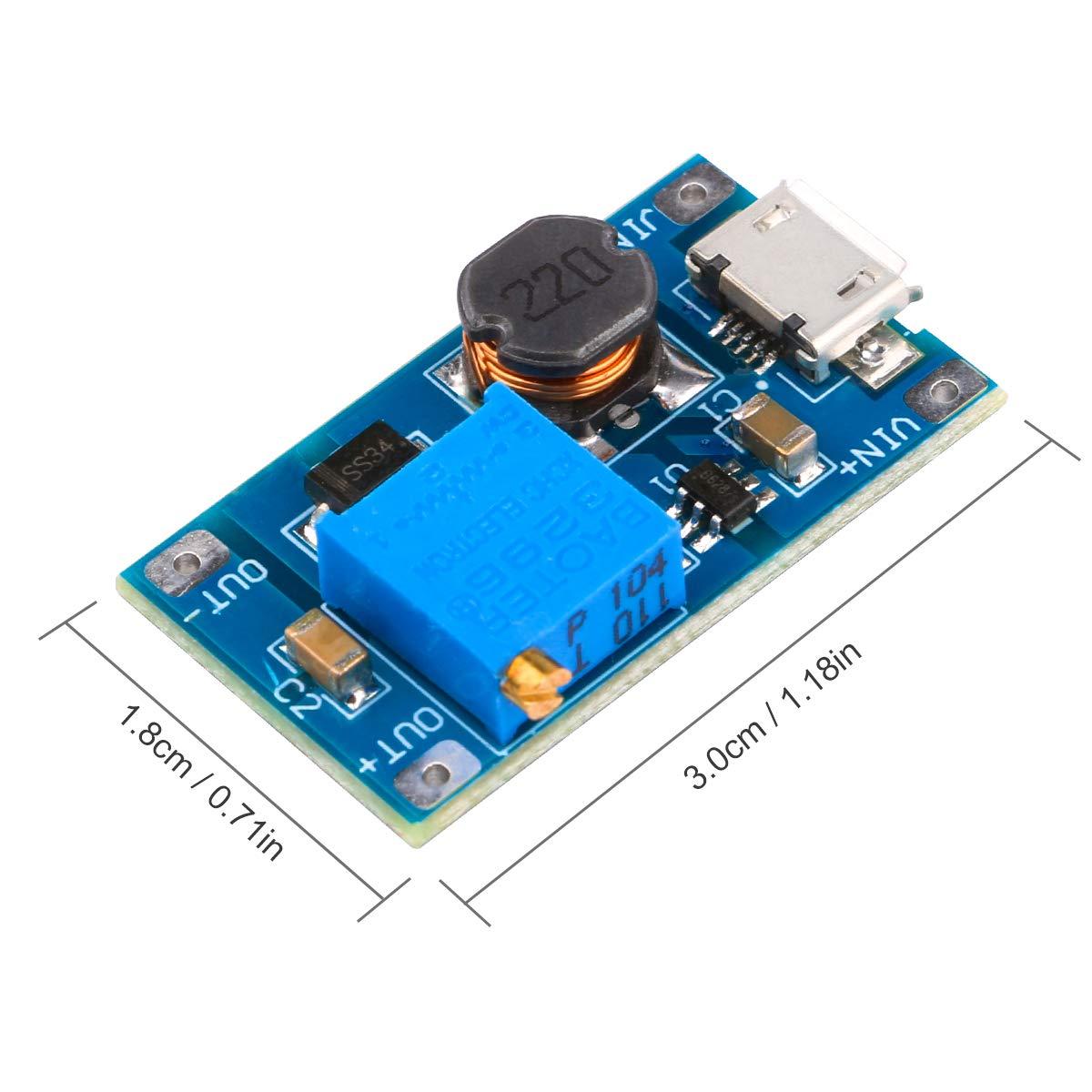 Dc Boost Converter Yeeco 1a Step Up Regulator Circuit Direct High Voltage Board 2 24v 5v 9v To 5 28v 12v 20v Booster Module Adjustable