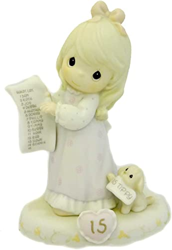 Precious Moments AGE 15 GROWING IN GRACE Porcelain Birthday 272663