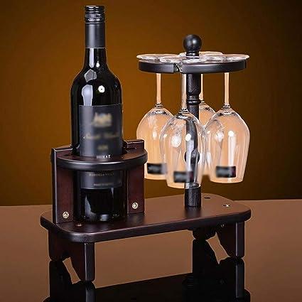 LYX1,Botellero Estante para Colgar de Madera Portavasos de Madera Copa de Vino Estante de