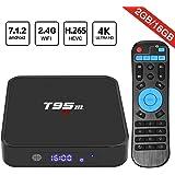 Android 7.1 TV Box, HAOSIHD T95M Smart Internet TV Box with 2GB RAM 16GB ROM, Amlogic S905X Quad Core 64 Bit WiFi Support 4K Full HD