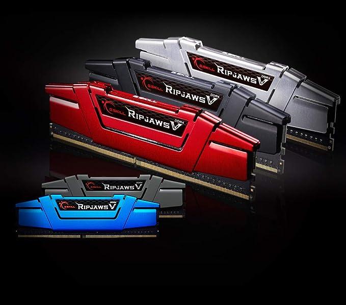 Imagen deMemoria RAM de Skill Ripjaws V Series F4-2133C15D-8GVR 8 GB (4 gbx2) Kit de Memoria DDR4 2133 MHz C15 1,2 V - roja de ira