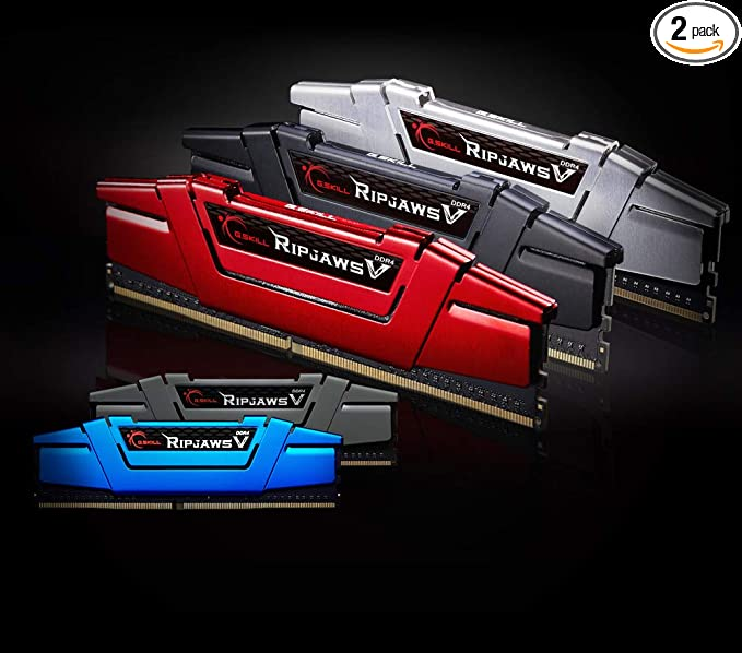 G Skill Ripjaws V Series 16GB (2X 8GB) 288-Pin DDR4 2400 PC4 19200 Intel  Z170/X99 Platform Memory F4-2400C15D-16GVB