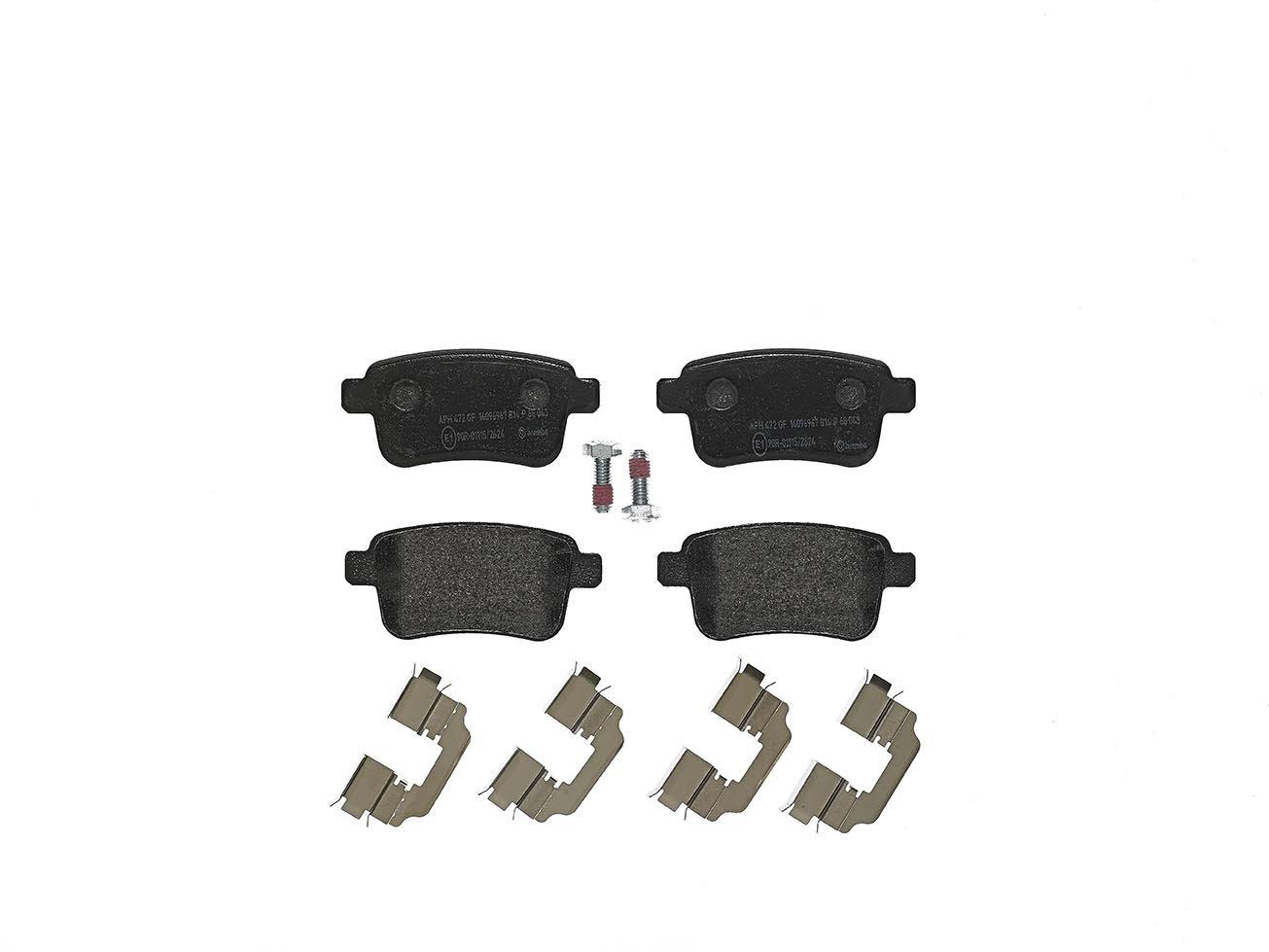 Set of 4 Brembo P49044 Rear Disc Brake Pad
