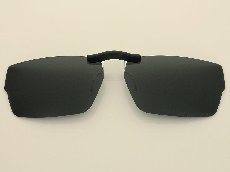 ac626e091b6 Custom Fit Polarized CLIP-ON Sunglasses For Oakley Muffler 53X18 Black - -  Amazon.com