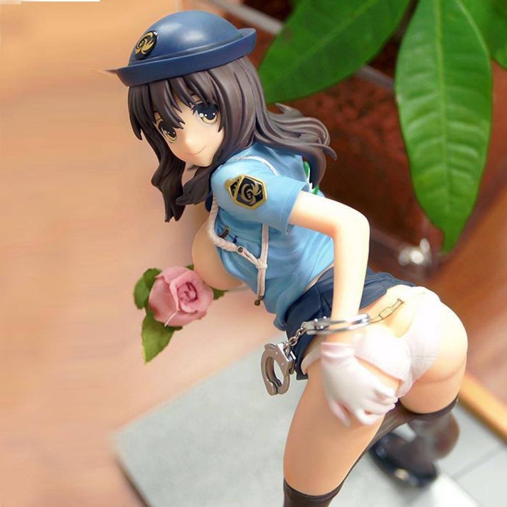 Anime game brinquedos Sexual Police Sexy lure our uniforms girl PVC