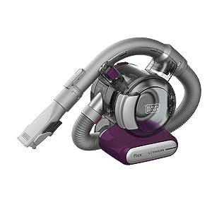 BLACK+DECKER Flex Handheld Cordless Vacuum, Eggplant (HFVB320J27)