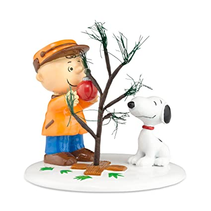 Amazon.com: Peanuts Village from Department 56The Perfect Tree ...