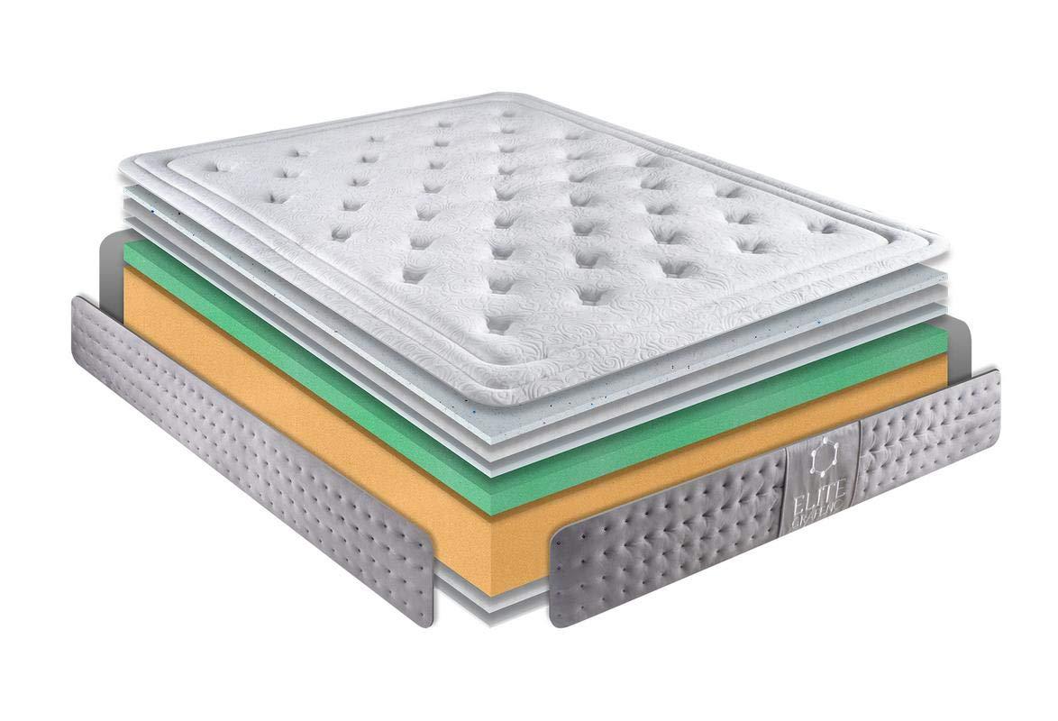 KAMA HAUS Colchón VISCOGRAFENO Elite 135x180 cm. | Gama Alta | con ViscoGRAFENO-Soft | Sistema Comfort Plus 8cm | Antiestrés | Alto Confort y adaptabilidad ...