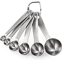 Measuring Spoons: U-Taste 18/8 Stainless Steel Measuring Spoons Set of 6 Piece: 1/8 tsp, 1/4 tsp, 1/2 tsp, 1 tsp, 1/2 tbsp & 1 tbsp Dry and Liquid Ingredients