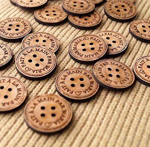 Amazon com: Product labels, personalized wooden buttons