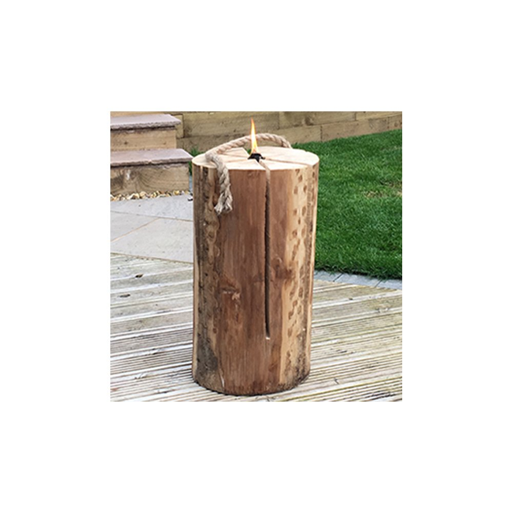 50cm Kiln Dried Swedish Candle Fire Pit Log - Easy Light - Winter Summer Bonfire Wedding Party Flame Logs - Comes with THE LOG HUT® Woven Sack. The Chemical Hut