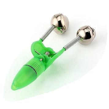 Rokoo 10pcs LED-Taschenlampe Nacht elektronische Fischerei Bissanzeiger Finder Lampe Double Twin Bell Tip-Clip auf Angel-Ger/ät