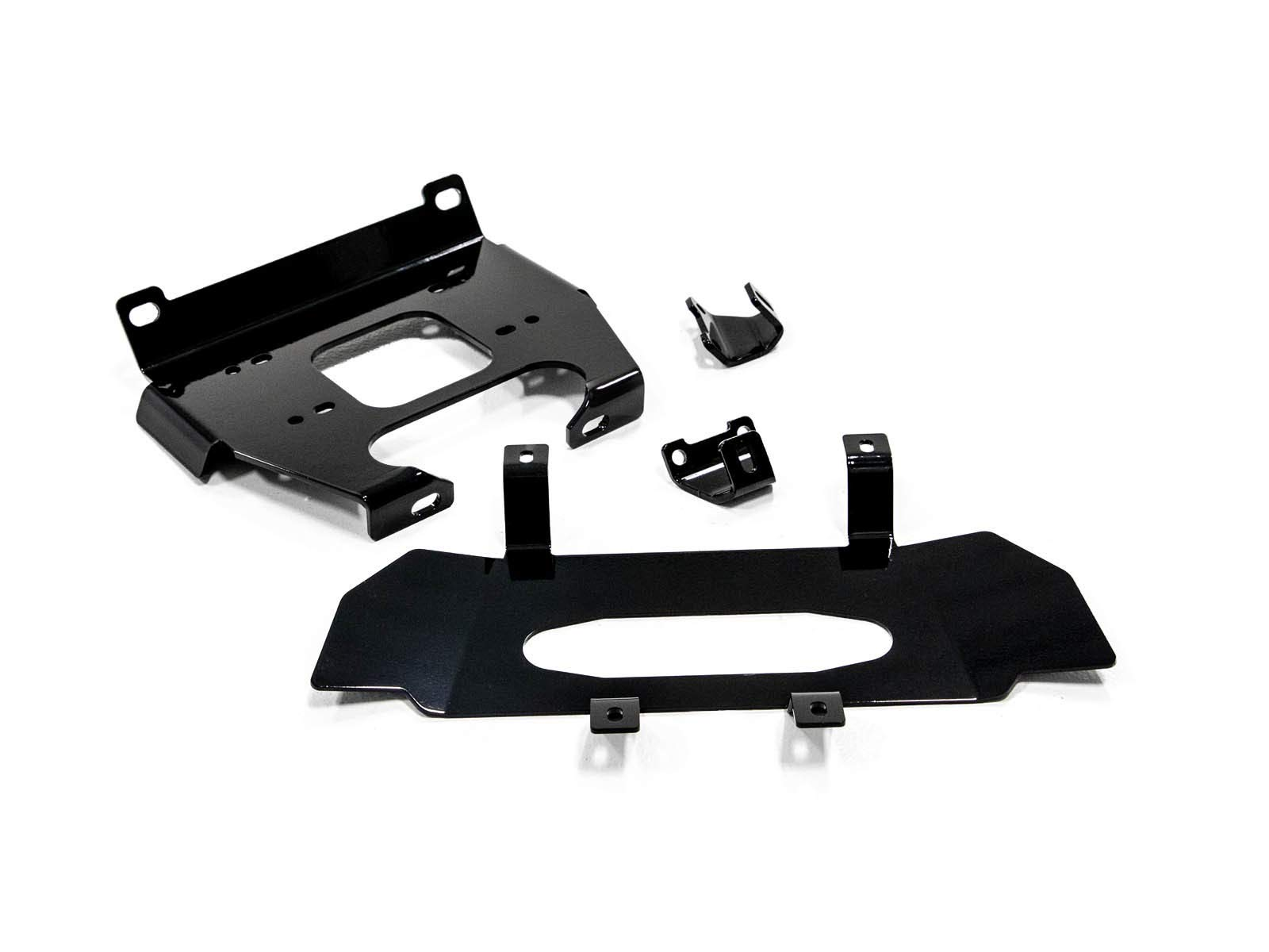 SuperATV Heavy Duty Winch Mounting Plate for Polaris RZR XP Turbo/4 Turbo (2019+) - Dual Mounting Bolt Patterns by SuperATV.com
