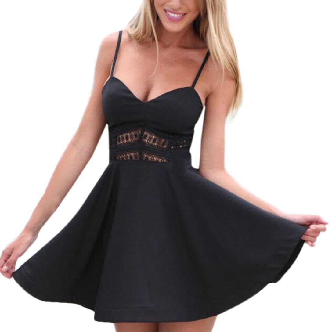 ティーンドレス卒業式パーティーノースリーブドレスレースVネックセクシーHollowedドレススカート, X-Large, ブラック 01 B07BXND516 X-Large|ブラック ブラック XLarge